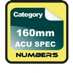 160mm ACU Race Numbers